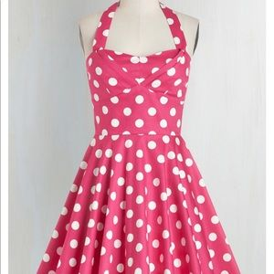 NWT ModCloth Ixia Traveling Cupcake Dress in Pink